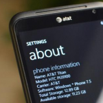 Объем памяти в телефонах на wp7